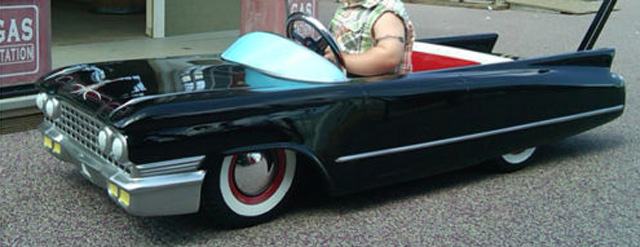 Tricked Out Cadillac Baby Stroller Has Fire Coming Out Of