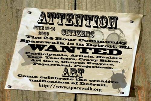The 24 Hour Community Spacewalk Detroit 2009