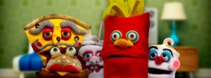 Talking Food Puppet Family