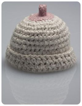 Boobie Beanie A Breastfeeding Baby Cap That Looks Like A