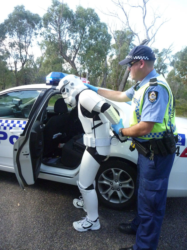 Man Walking Across Australia in Stormtrooper Armor