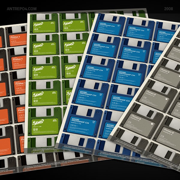3.5 Inch Floppy Disk Poster Set