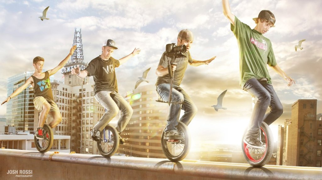 A Fantastic Video of Extreme Unicyclists Pulling Off Freestyle Stunts
