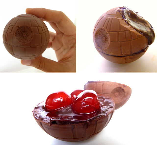 Star Wars Chocolate Death Star Filled With Maraschino Cherries