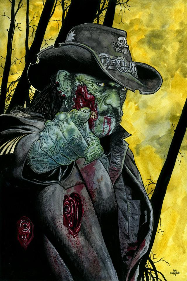 Lemmy Kilmister - Motörhead Zombie by Rob Sacchetto