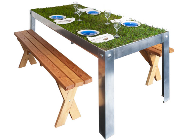 picNYC Table, An Indoor Urban Dining Table That Grows Grass
