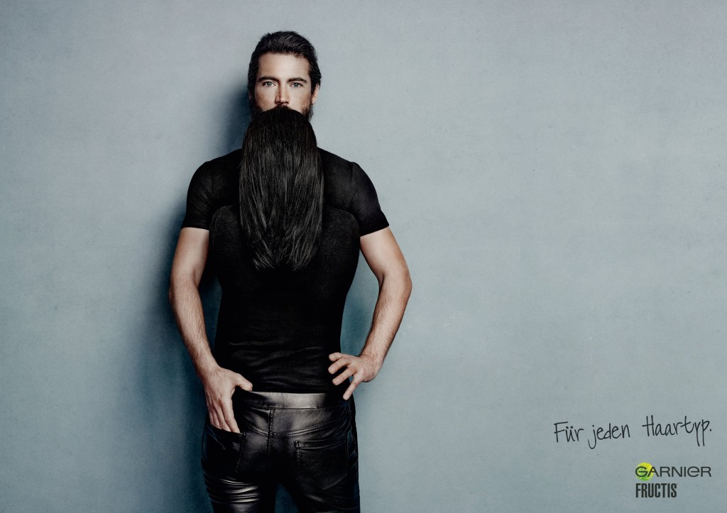 Remarkable Long Hair That Looks Like A Beard Clever Ads By Garnier Fructis Short Hairstyles For Black Women Fulllsitofus