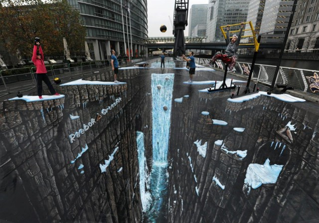 World's largest 3D Street Art by 3D Joe and Max