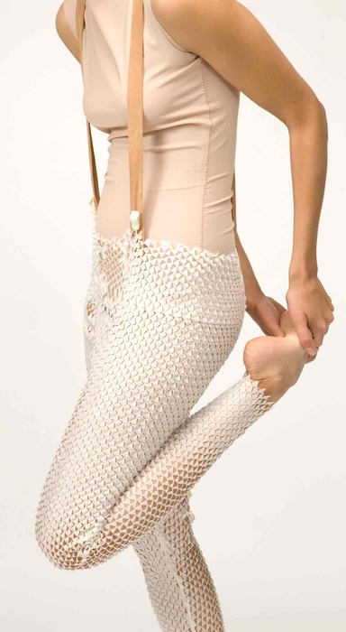 Snake&Molting, Laser Cut Legwear Inspired by Molting Animals