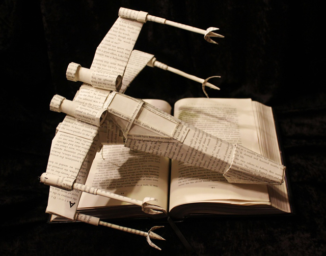 Star Wars X-Wing Book Sculpture