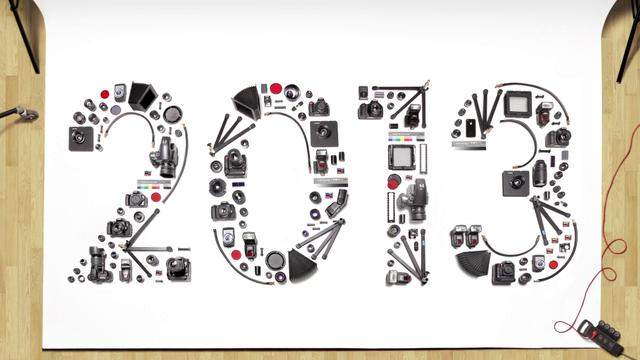 Happy New Year, Stop-Motion Animation Featuring Photography Equipment Being Rearranged