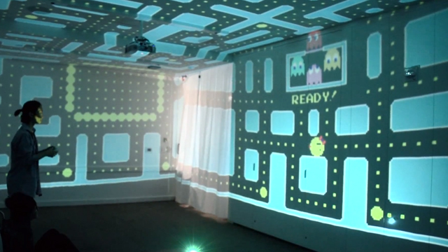 3D Ms. Pac-Man Exhibit by Keita Takahashi