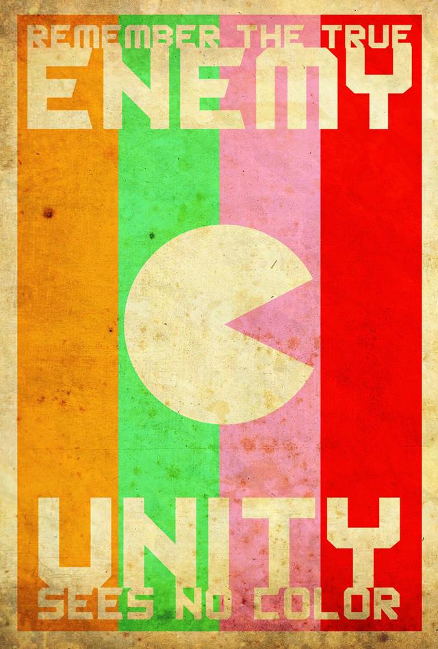 Minimalist Pac-Man Propaganda Poster Series