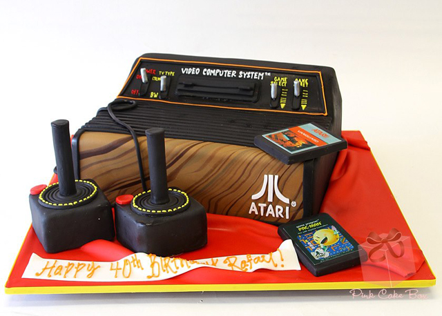 Atari 2600 Game Console Birthday Cake