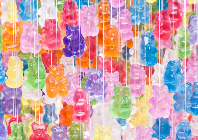 Candelier gummy bear chandeliers images via kevin champeny aloadofball Images