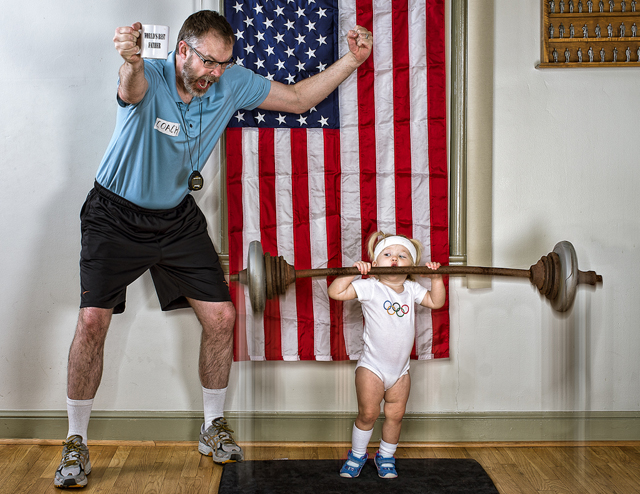 Olympic Fever - World's Best Father by Dave Engledow