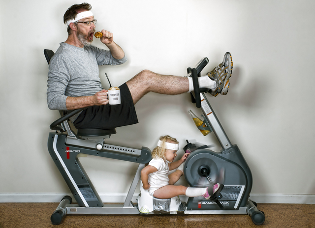Workout Partners - World's Best Father by Dave Engledow