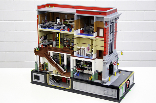 A Lego Ghostbusters Fire Station Headquarters on San Francisco Apartments 1 Bedroom Floor Plans