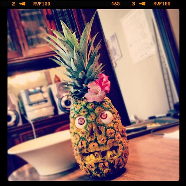 Zombie Luau Pineapple by Kari Jo Skogquist