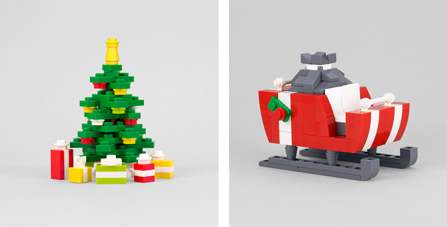 Christmas Tree and Santa's Sleigh by Chris McVeigh