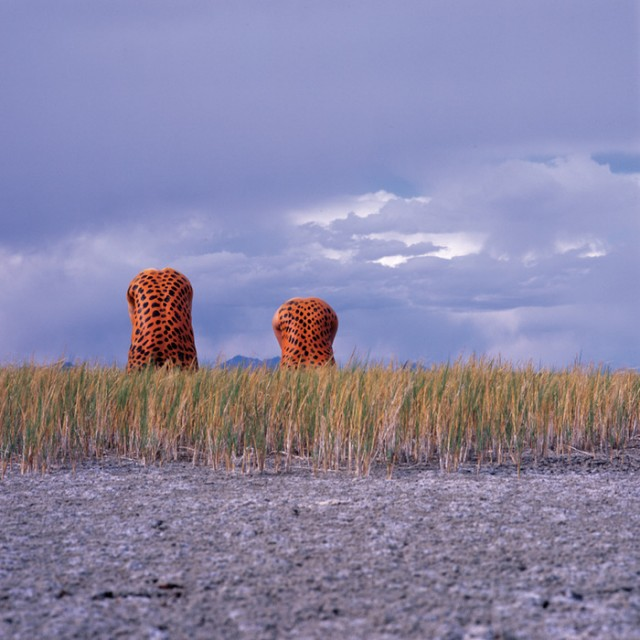 Stunning photos of body painted figures in nature by Jean-Paul Bourdier