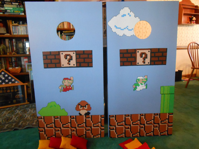 Super Mario Bros. Cornhole Board