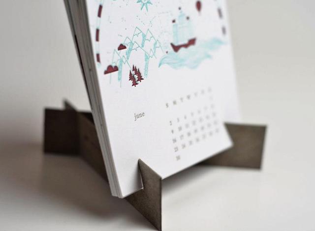 12 Musketeers 2013 Letterpress Calendar