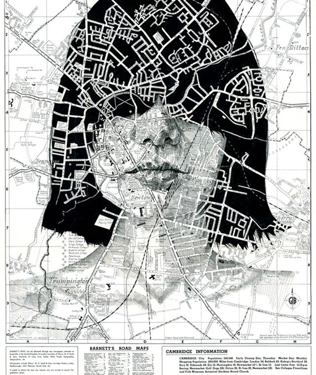 Map portraits by Ed Fairburn