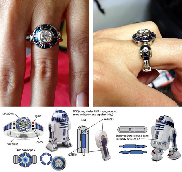 best 25 star wars jewelry ideas on ring - R2d2 Wedding Ring