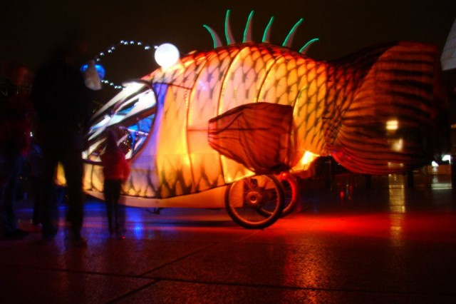Glowing Angler Fish Tricycles by Group D Creative Collective