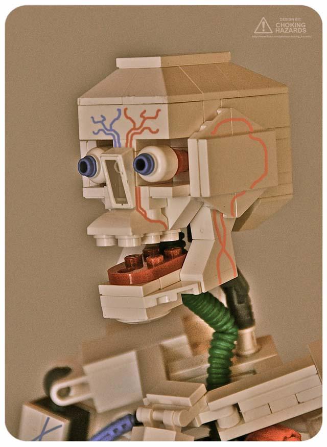 Lego anatomy models by Clay Morrow