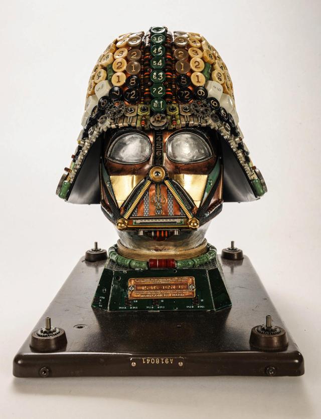 Darth Vader Upcycled Mask by Gabriel Dishaw