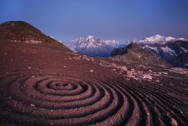 Land art by Sylvain Meyer