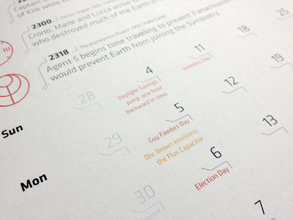 The 2012 Time Travel Calendar by Alex Griendling
