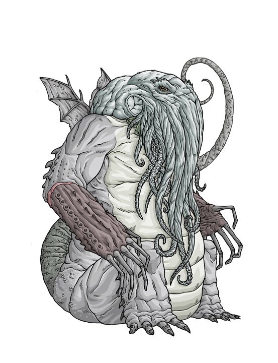 H. P. Lovecraft creatures by Mike Bukowski