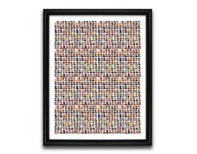 Mass Pixel Portrait Poster Project Print