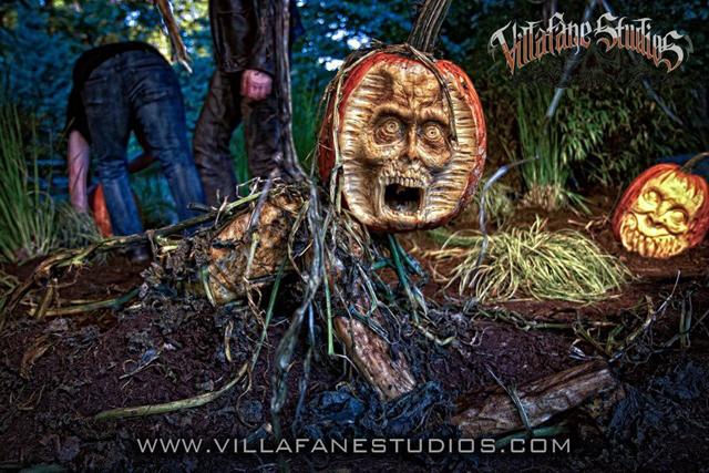 Pumpkin Zombie by Villafane Studios
