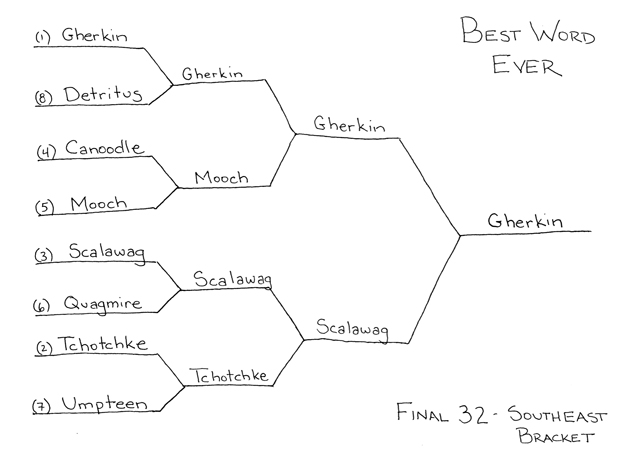 Best Word Ever Final 32 - Southeast Bracket by Ted McCagg