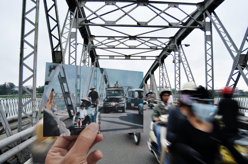 Historical Photos of Vietnam Superimposed Over Present Day Scenes