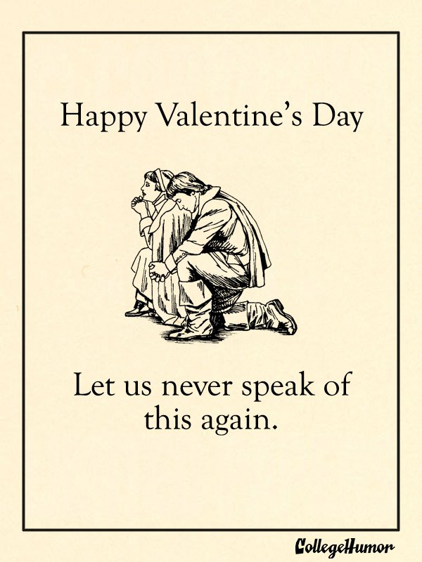 Puritan Valentine's Day Card
