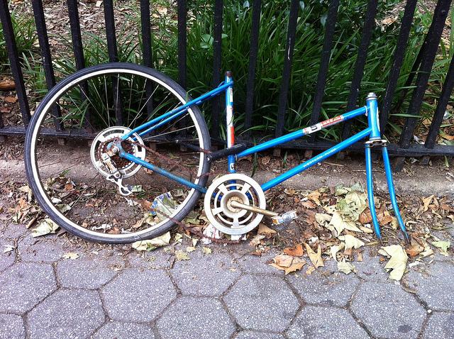 Abandoned Bikes Street Exhibit