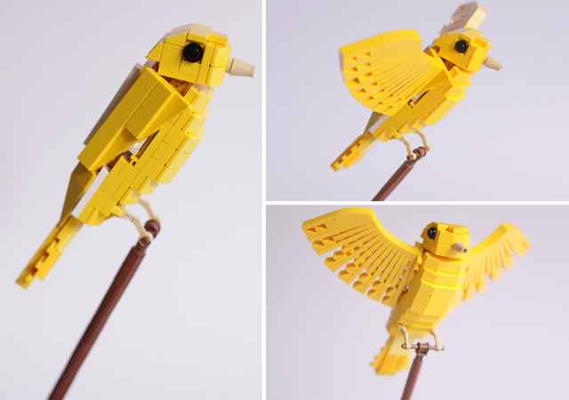 Tropical LEGO Birds by Thomas Poulsom