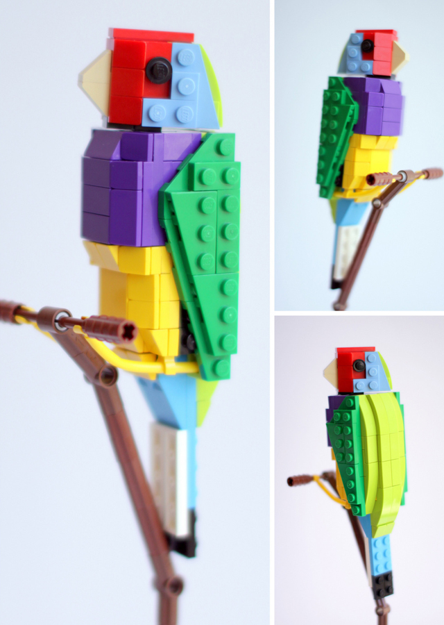 LEGO Gouldian Finch by Thomas Poulsom