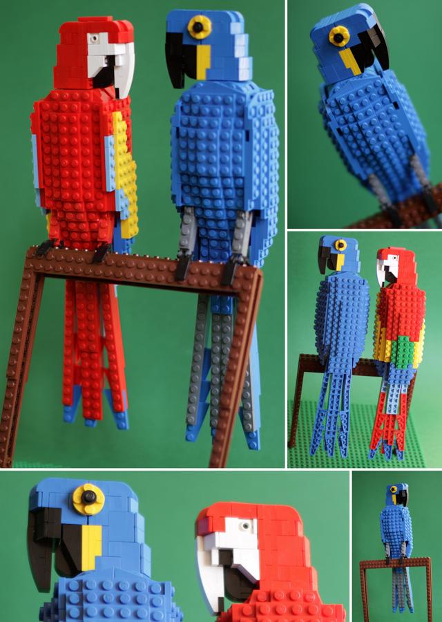LEGO Macaws by Thomas Poulsom