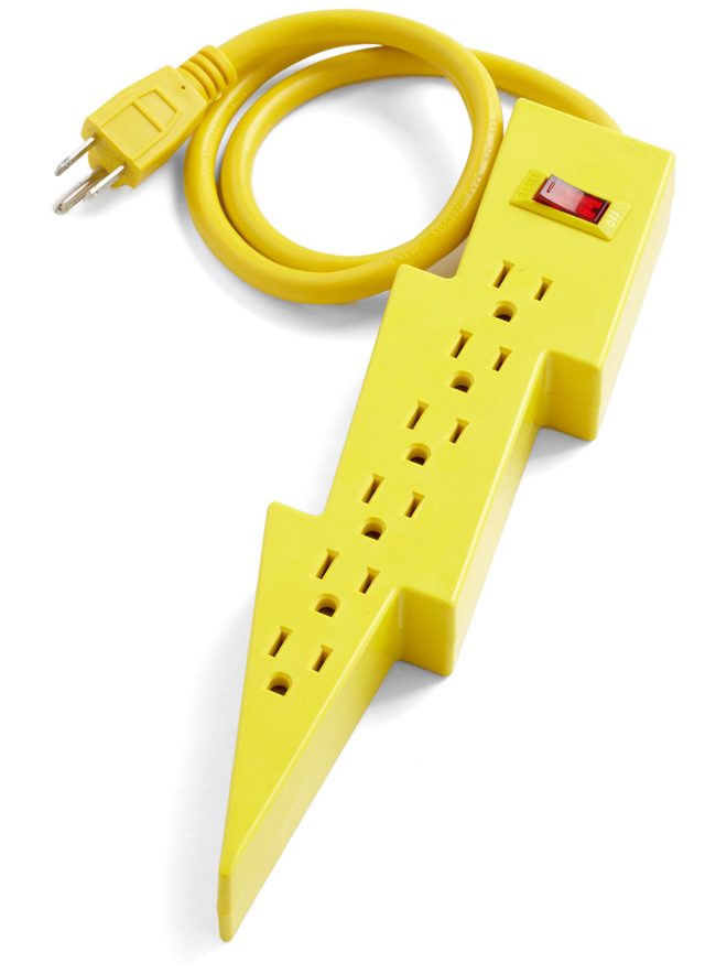 Lightning Bolt Power Strip by Kikkerland Design