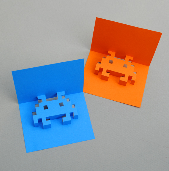 8-bit Pop-up cards by Mini-eco