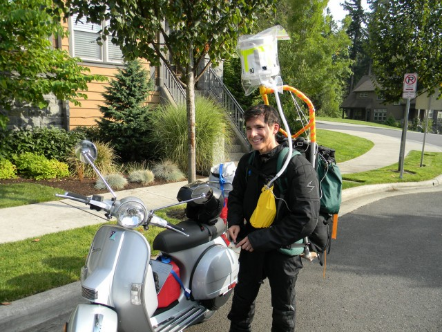 Gabriel Paez takes panoramic camera across US aboard scooter
