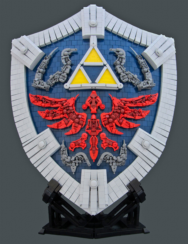 The Legend of Zelda: Twilight Princess Hylian Shield Built From LEGOs