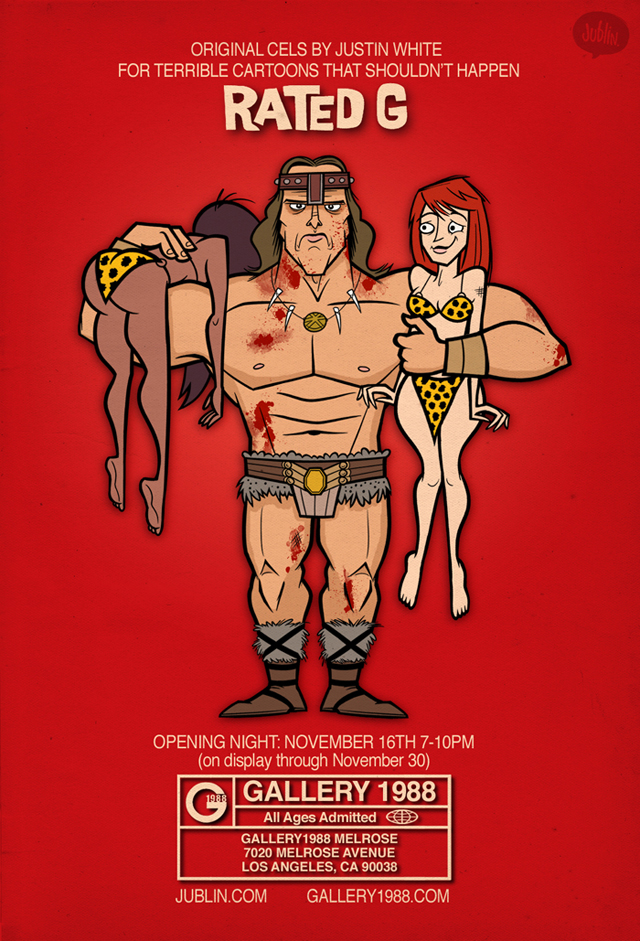 Rated G art show - Conan by Justin White