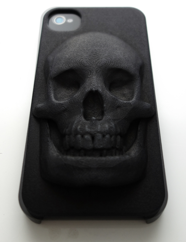 3D Printed Skull iPhone Case (High Detail) by Hugo Arcier